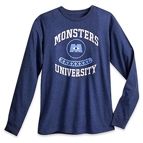 Monsters University Shirt (Disney Monsters University Long Sleeve Tee for Men Size MENS XXL Blue)