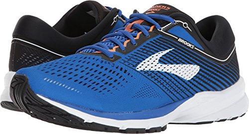 Brooks Men's Launch 5 Blue/Black/Orange 10 D (Arch Rival Shoes)