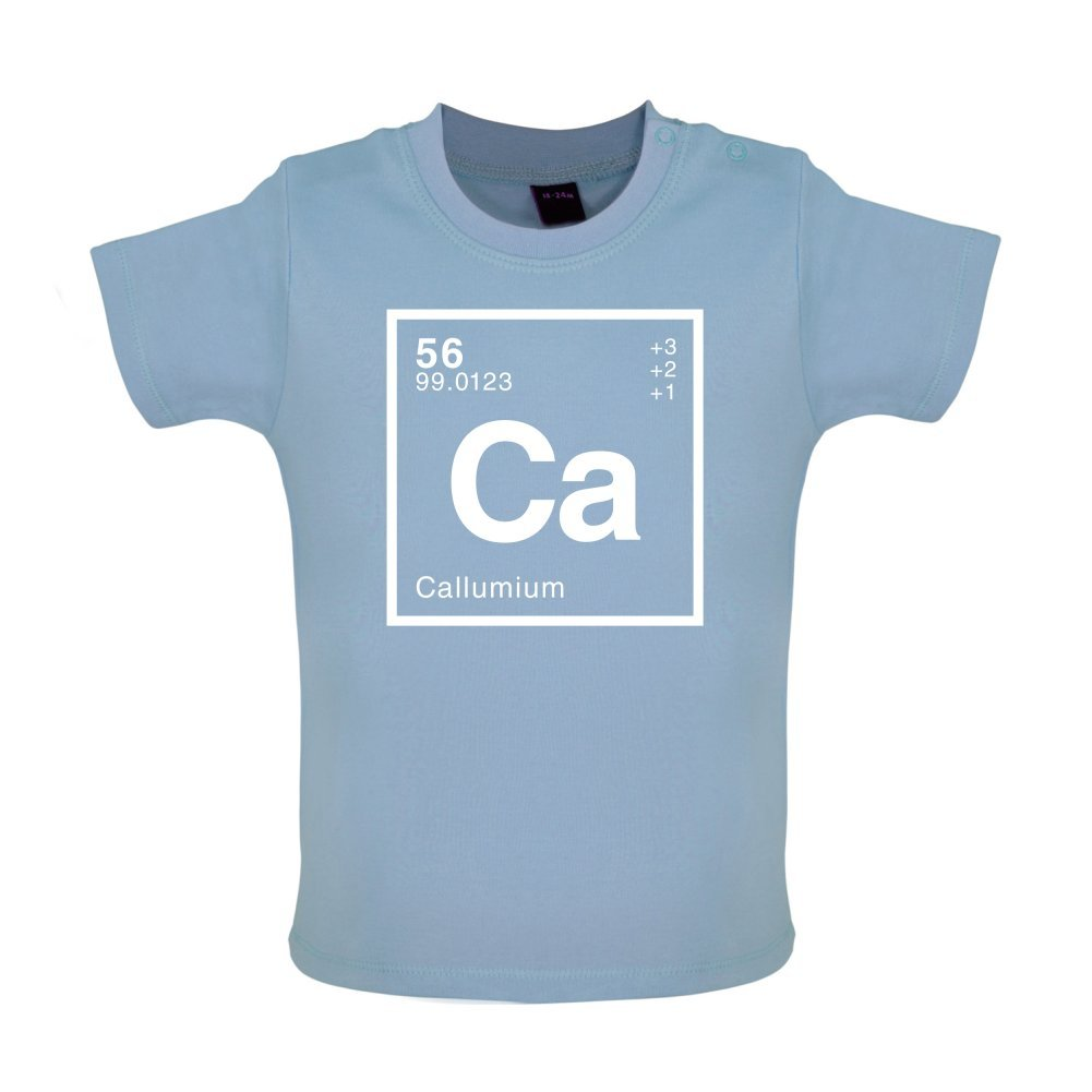Dressdown CALLUM Periodic Element Baby T-Shirt 8 Colours Ages 3-24 Months