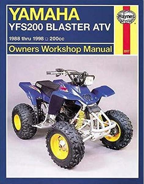[FPWZ_2684]  Yamaha YFS200 Blaster ATV, 1988 Thru 2006, 200CC (Haynes Owners Workshop  Manual): Haynes: 9781563926884: Amazon.com: Books | 1988 Yamaha 200 Blaster Wiring Diagram |  | Amazon.com