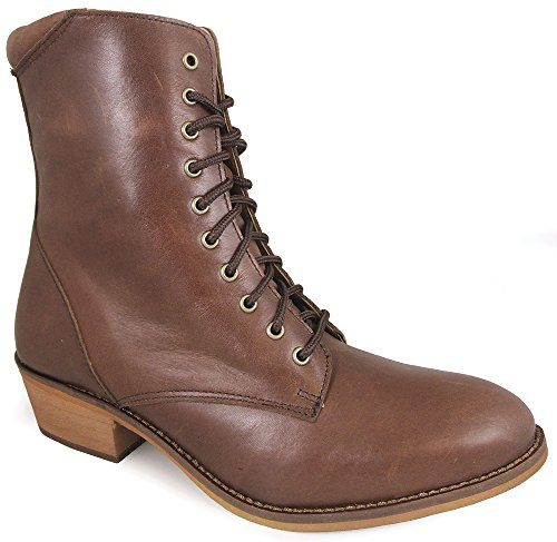 Smoky Mountain Women's Lacer Western Boot Round Toe Brown 10 M Packer Western Lacer Boots