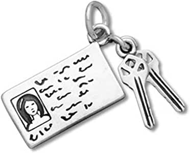 Amazon.com: Sterling Silver Moevable Driver's License with ...