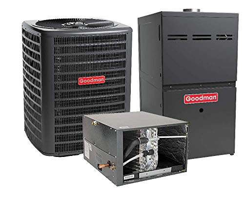 (Goodman 3 Ton 17 SEER R-410A Two Stage Variable Speed Horizontal Gas Furnace with Air Conditioner Split System )