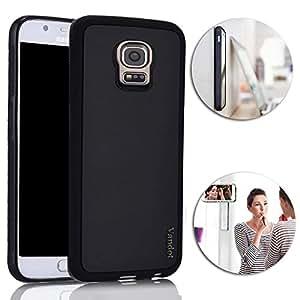 Vandot Samsung Galaxy S5 Anti Gravity Case, Mágico Anti Gravedad Selfie Palillo Caso Ordenador Personal Nano Succión Duro Contraportada Hard Back Cover para Samsung Galaxy S5 I9600 (Negro)