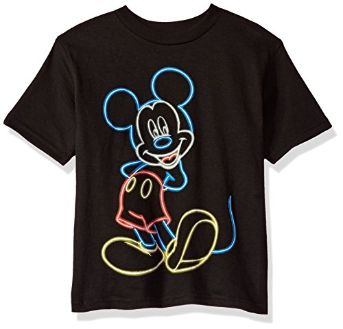Disney Little Boys' Mouse Short Sleeve T-Shirt, Mickey Black, 7]()