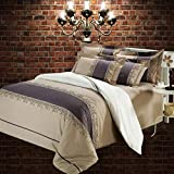 Nordic Simple Quilt Cover & Pillowcase Set Print Easy Care Bedding Set Bedroom Use(Double,Standard/King Size Bed),Standard(200X230cm)