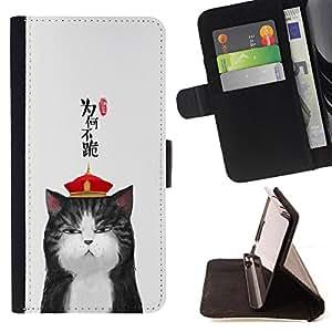 - Cat Cute Kitty - - Monedero PU titular de la tarjeta de cr?dito de cuero cubierta de la caja de la bolsa FOR LG Nexus 5 D820 D821 Retro Candy