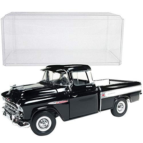 - Johnson Smith Co. (Set) 1957 Chevy Cameo Pickup Truck 1:18 Scale Die Cast & Clear Display Case