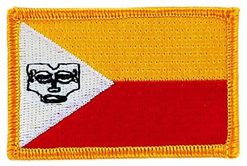 Patch Aufnäher, bestickt, Flagge Marquesas-Inseln, aufbügelbar, für Rucksack