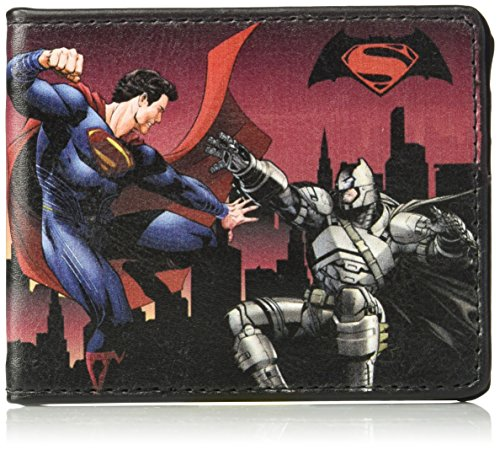Buckle-Down Wallet Dawn Of Justice Superman and Batman Battling Scenes/s Accessory at Gotham City Store