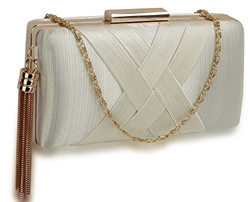 Look Hard 1 With New Evening Ivory Handbag Bag Box For Ladies Tassel Design Women Clutch Case Designer qOOf0Tw