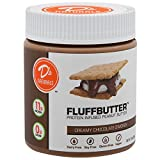 No Cow Peanut Fluffbutter, Chocolate S'mores, 10g Plant Based Protein, Low Sugar, Dairy Free, Gluten Free, Vegan, 10 Ounce