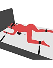 PALOQUETH BDSM Sex Bondage Fesseln mit Handfessel Fußfesseln sexspielzeug für Anfänger und Paare, mit spielsatin Augenmaske Augenbinde + Federkitzler Liebes Feder SM