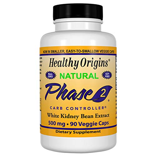 Healthy Origins Phase 2 Carb Controller 500 mg, 90 Veggie Caps