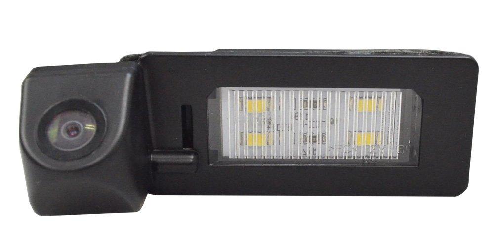 ファクトリーダイレクト バックカメラRC-VWG-LED01 Golf Plus ゴルフプラス(2009以降) CCDバックカメラキット VW フォルクスワーゲン 車種別設計 純正LEDナンバーレンズ交換タイプ レーシングダッシュ製部品使用 B077KZ4RP3