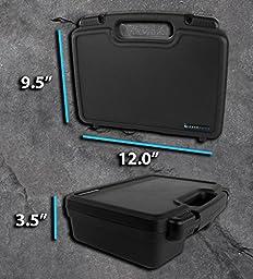 TRAVEL Portable Pico Projector Case with Protective Foam fits Crenova XPE700 / iCODIS CB-300 / Ezapor GM60 / Mileagea Pico DLP / LG Minibeam PH550 and Small Accessories