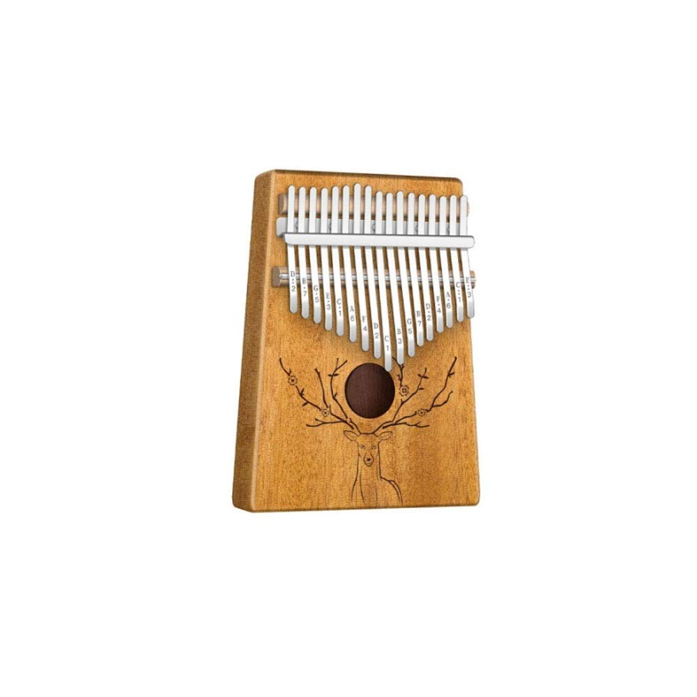 Qiyuezhuangshi Kalimbaqin, 17-key thumb piano, suitable for beginners professional performance, (gifts; thumb piano + spectrum tuning hammer) Easy to use (Color : 2)