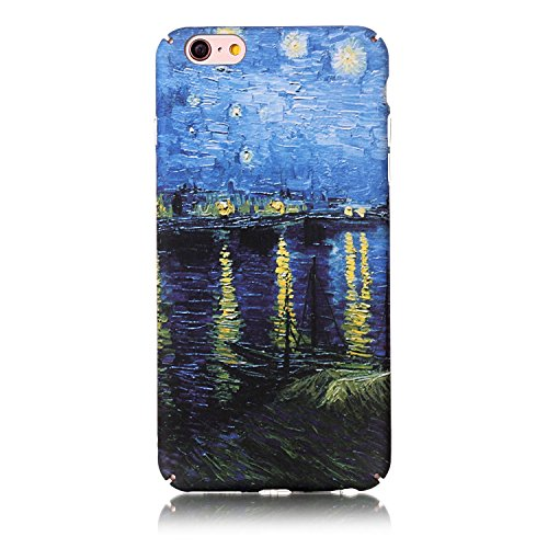 Hard Back Iphone - Caseceo Durable Hard Shell Back Case For iPhone 6s Plus/iPhone 6 Plus (The Starry Night Over the Rhone Van Gogh)