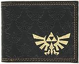: Zelda - All Over Emboss With Gold Foil Bi-Fold Wallet 2 x 2in