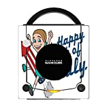 Happy 4th of July Quote Cute Girl on Firework American Flag Image Design Pattern Gamecube Vinyl Decal Sticker Skin by Trendy Accessories