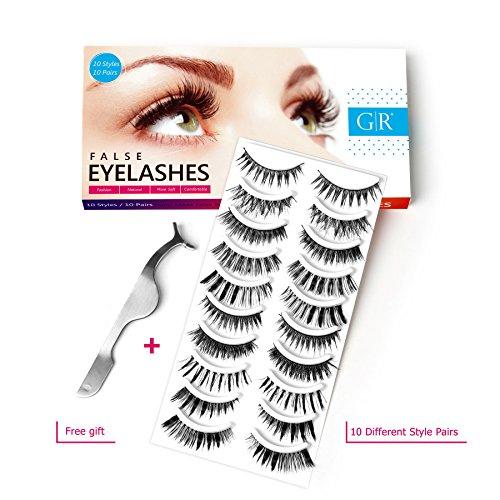 Goldrose-10-Different-Styles-10-Pairs-Black-Long-Thick-Most-Natural-Looking-Reusable-Charming-Cross-Makeup-False-Eyelashes-Fake-Eye-Lash-Extension-Handmade-Soft