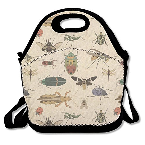 TAVJCFW Temperament Personalized Suitable For Any Crowd Suitable Occasion Offices -Creepy Crawly Insects Lunch Bag