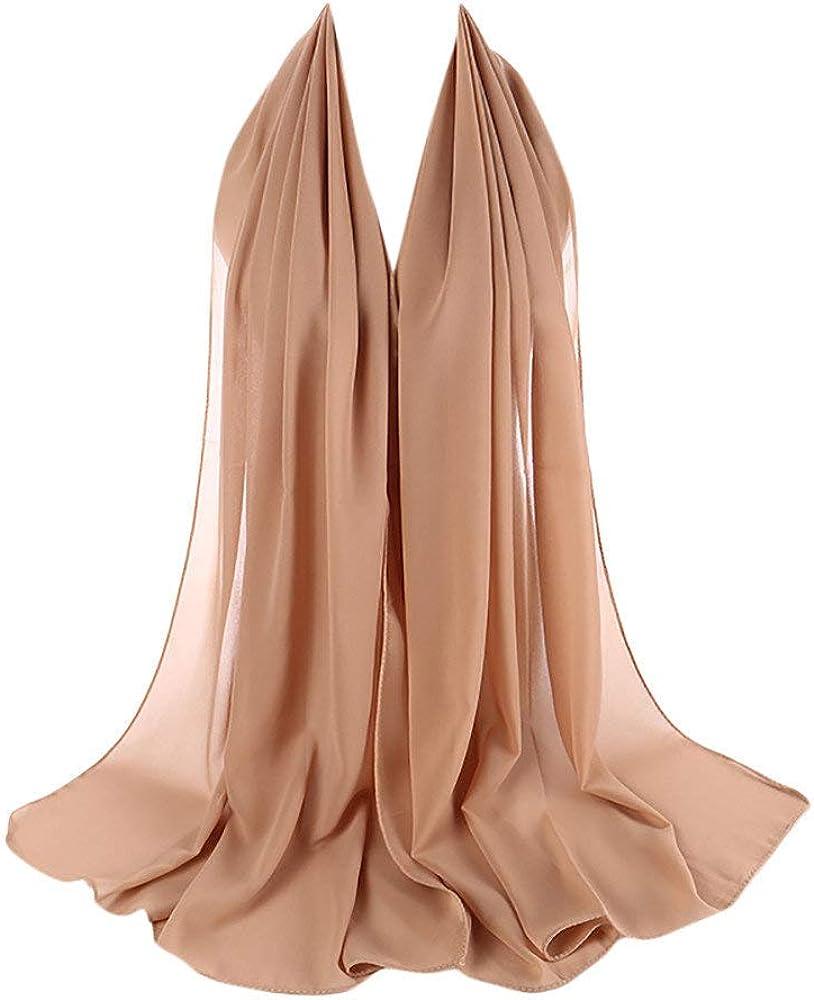 BaZhaHei Foulards Femme Hijab Nuage Echarpe Longue Froiss/é Viscose Premium Doux Ch/âle Foulard de t/ête Doux El/égant Uni Fichus