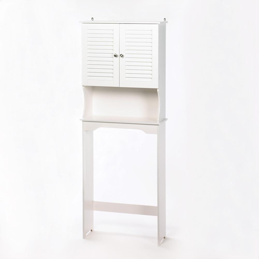 Accent Plus White Bathroom Shelf, Nantucket Storage Decor Floor Display Toilet Bathroom Shelf