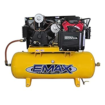 Emax EGES2480ST 24 HP Gas Air Compressor, 80-Gallon, Horizontal, Electric Start, Industrial Plus Series