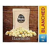 Blanched / Roasted Hazelnuts  UNSALTED  FILBERTS   NO SKIN   KOSHER   CERTIFIED GLUTEN FREE   NON-GMO   PALEO