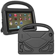 Fire 7 Case 2017,Fire 7 2015 Case,Thgriblz Light Weight Protective Kids Case for Amazon Kindle Fire 7 inch Display Tablet (7th Generation,2017 Release) & (5th Generation,2015 Release) (Black)