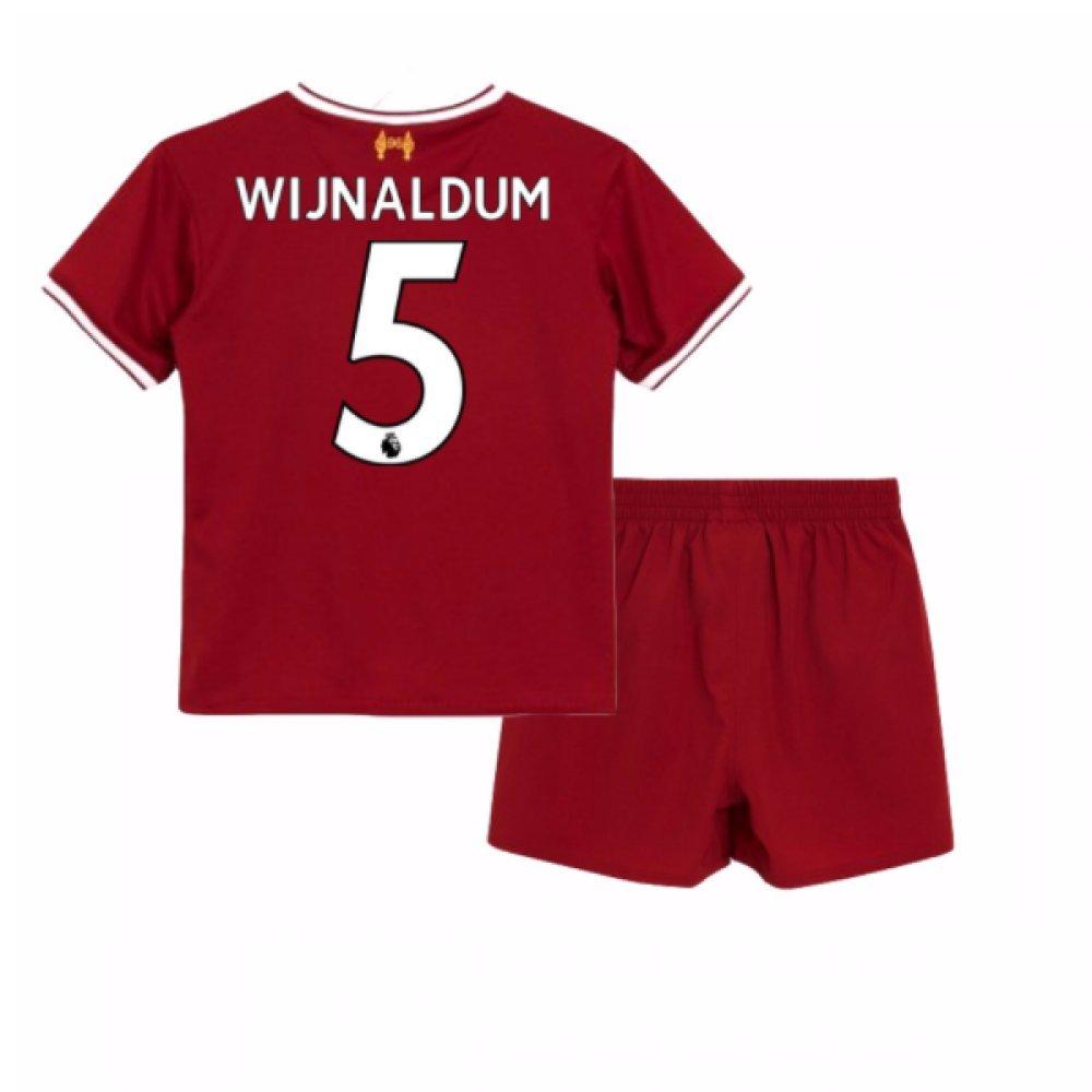 UKSoccershop 2017-18 Liverpool Home Baby Kit (Georginio Wijnaldum 5)