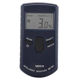Akozon Medidor de humedad de madera, papel, 4% ~ 40% RH (