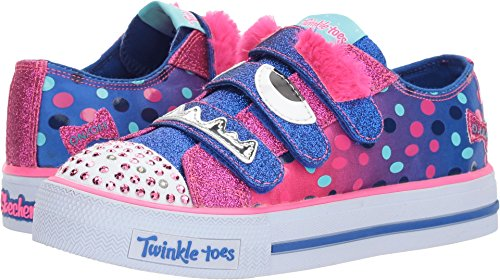 SKECHERS KIDS Girl's Shuffles 10913L Lights (Little Kid/Big Kid) Blue/Hot Pink 13.5 M US Little Kid
