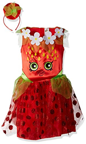 [Disguise Shopkins Strawberry Classic Costume, One Color, Medium/7-8] (Strawberry Halloween Costumes)