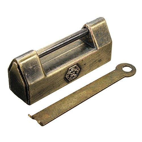 Zinc Alloy Vintage Mini Padlock Drawer Desk Cabinet Key Lock from BephaMart