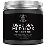 Pure Body Naturals Dead Sea Mud Mask for Face and Body, Purifying Face Mask for Acne, Blackheads, and Oily Skin, 8.8 Ounce
