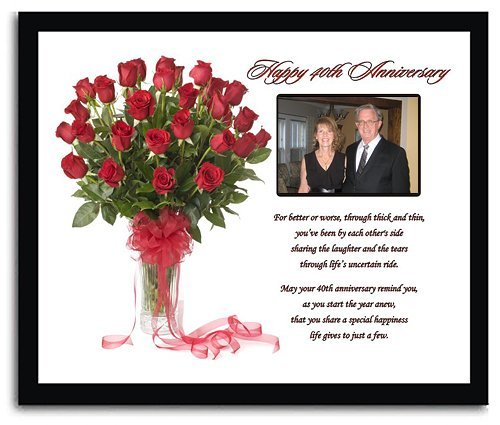 40th Wedding Anniversary Gift for Anniversary Couple - 40th ...