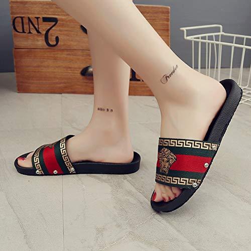 Shoe Selvagge Donna Da Pantofole Ciabattine Verde Una Uomo Qsy Parola Sola E Di Sd4CRq4yc1