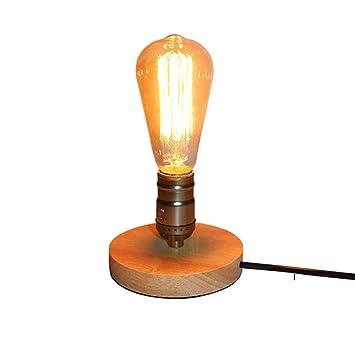 Mtttd74100147 Lámparas de Escritorio Lámpara de Mesa de Madera ...