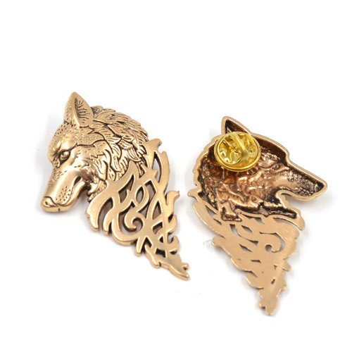 Game of Thrones GOT Brooch Hand of the King Pin Gold Silver Lannister Stark
