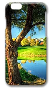 Golf Course Landscape Thanksgiving Easter Masterpiece Limited Design PC Black 3D Case for iphone 6 by Cases & Mousepads