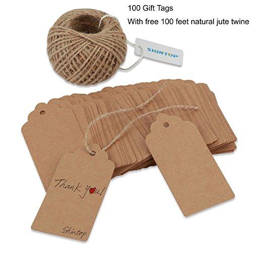 shintop-100pcs-kraft-paper-gift-tags-bonbonniere-favor-rectangular-gift-tags-with-free-100-feet-natu
