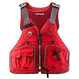 NRS Chinook Fishing Kayak Lifejacket (PFD)-Red-XL/XXL