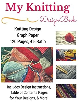 Knitting Design Graph Paper Book 4 5 Ratio 120 Pages Premium