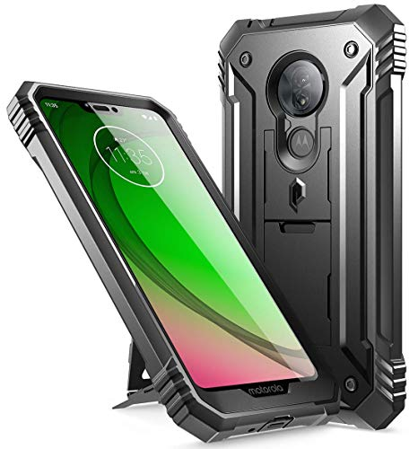 Moto G7 Power Case, Moto G7 Supra Case, Moto G7 Optimo Maxx Case, Poetic Full-Body Heavy Duty Rugged Case, Built-in Screen Protector, Shockproof Defender Case,DO NOT FIT Moto G7 / Moto G7 Play, Black
