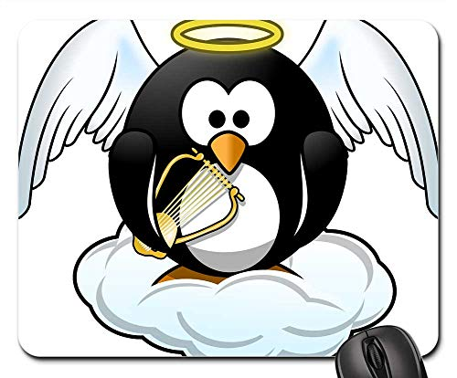 Mouse Pads - Tux Angel Animal Bird Cloud Fly Halo - Egyptian Harp