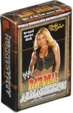 WWE Raw Deal Card Game Armageddon Starter Deck Babe of the Year Trish Stratus by Comic Images