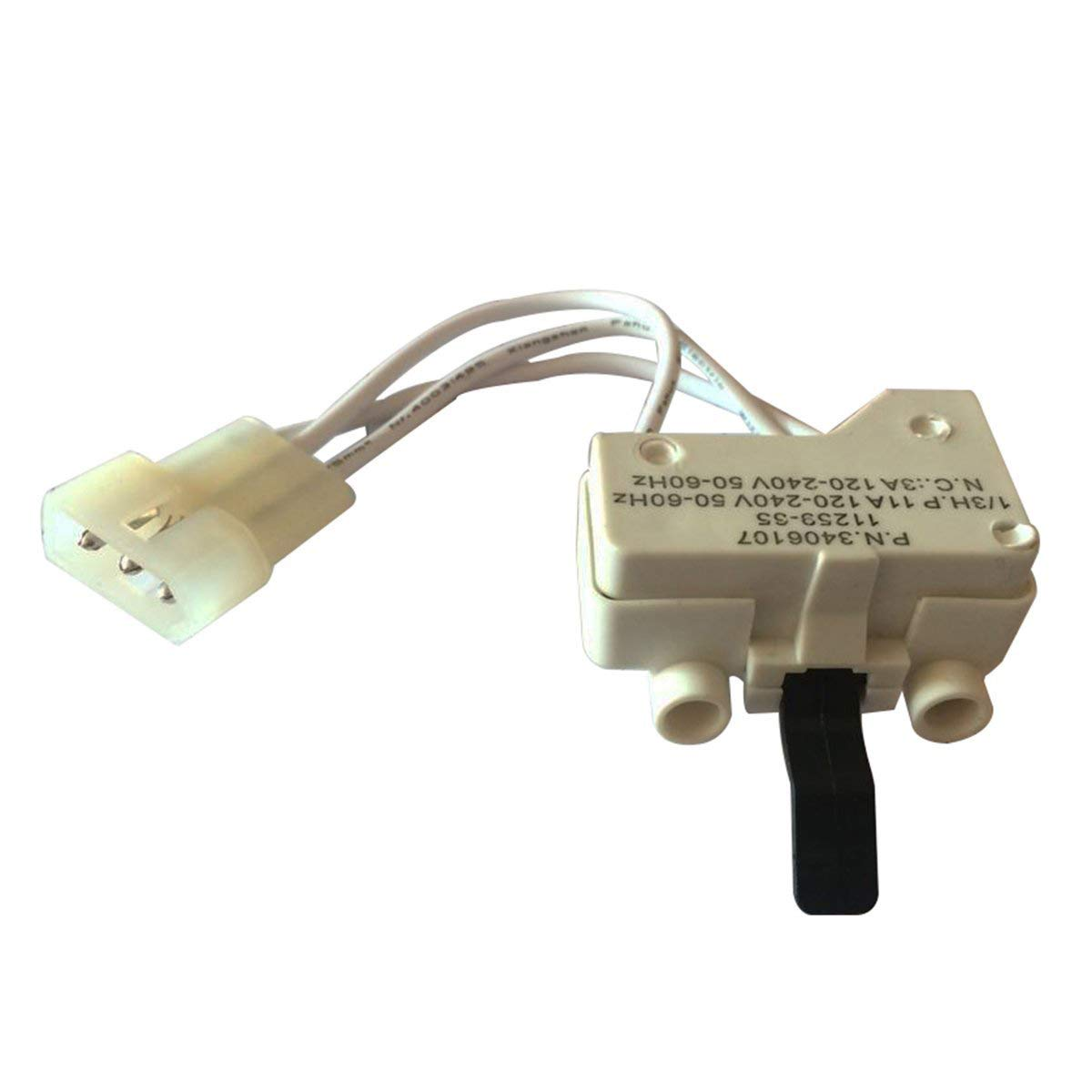 LONYE 3406107 Dryer Door Switch for Whirlpool Kenmore Sears Roper Maytag WP3406107 PS11741701 AP6008561 Replace 3406109, 3406100, 3405101, 3405100, 3406101