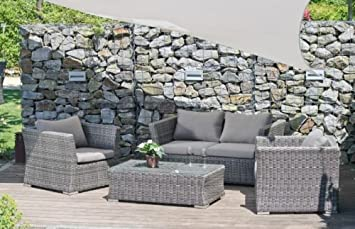Luxus garten  Luxus Garten Lounge Set - Sofa, 2 Sessel, Tisch, inkl. Auflagen ...